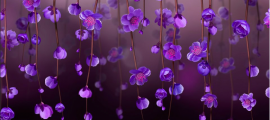 flowers small virtual purple hanging