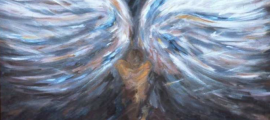 angel wing painting