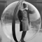 b:w bubble girl one