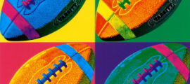 football pop art