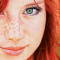 girl with red hair and freckles small